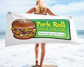 Pork Roll Beach Towel - Jersey Shore Beach Towel - Pork Roll Egg & Cheese - Jersey Shore Beach Towel - Pork Roll - Keeping Jersey Strong