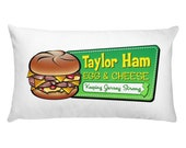 Taylor Ham Pillow - Taylor Ham Egg & Cheese - NJ Pillow - New Jersey - New Jersey Pillow - NJ Gift