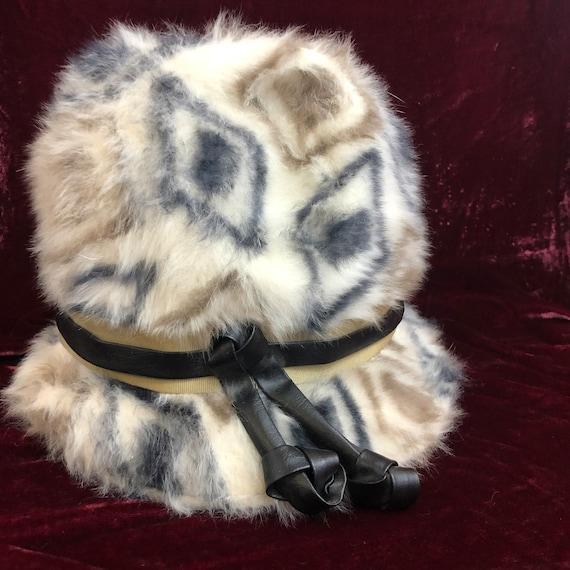 Vintage 1960s Elsa Schiaparelli Fur Cloche Hat, Pa