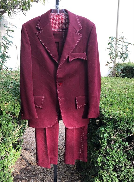 Ultra Fab Men's Vintage 1970s 2 Pc. Leisure Suit