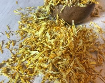 Bulk Calendula Flower Petals   Bulk Calendula Petals   Organic Calendula   Calendula Officinalis   Calendula Loose Petals