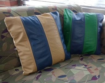 Accent Pillow Cover from Upcycled Leather