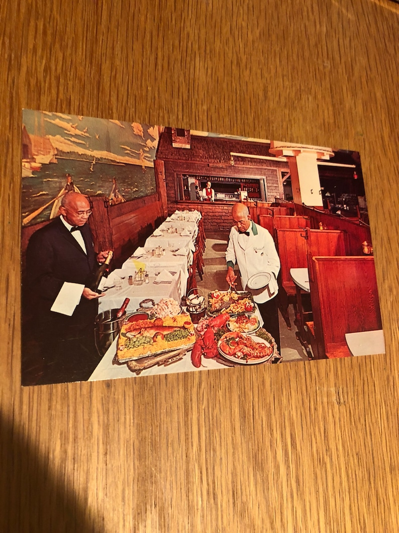 O/'Donnell/'s Sea Grill Restaurant 1950/'s RARE two unposted Postcards 1207-1221 E Street in Washington DC Tang o/' the Sea Food