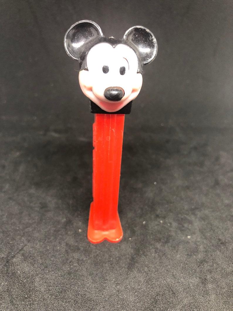 Walt Disney Pez Dispenser Mickey Mouse Vintage Red stem