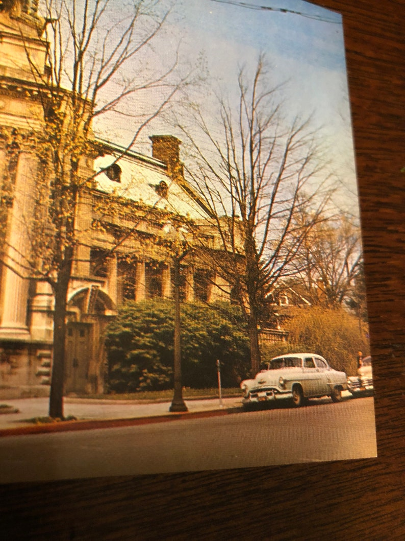 VA  RARE unposted 1940s vintage Real Photo Postcard RPPC of John Handley Library in Winchester