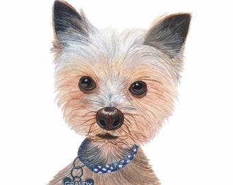 Golden Retriever Puppy Original Watercolor Painting Dog Etsy