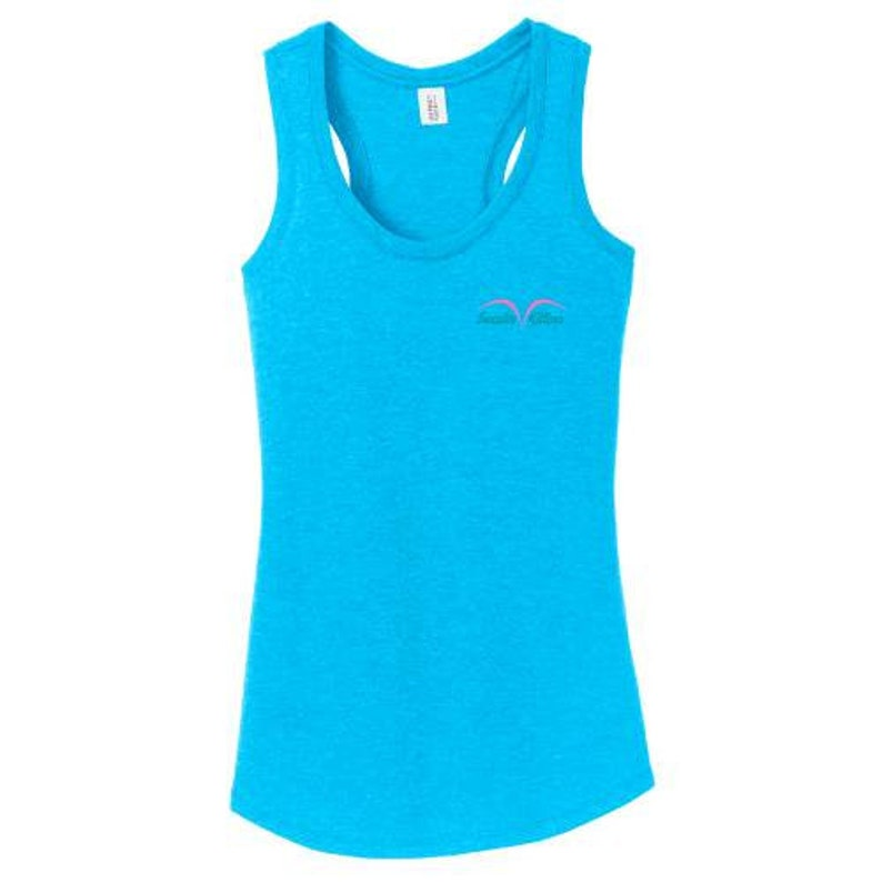 A HEATHERED  RACERBACK  Colorful Turquoise Tank  image 0