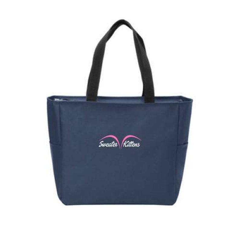 EVERYTHING TOTE  NAVY Embroidered logo graphic women teens. image 0