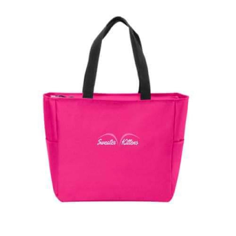 EVERYTHING TOTE PINK graphic tote embroidered image 0