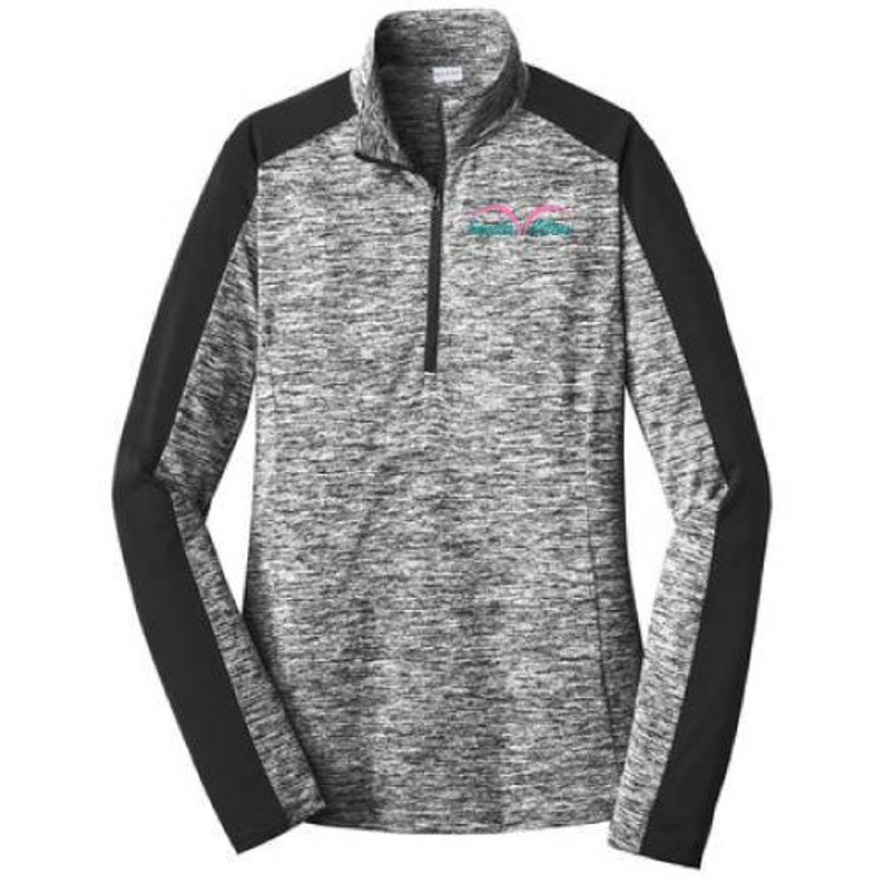 Awesome ELECTRIC BLACK Heather Breast cancer special graphic 2X US women's letter