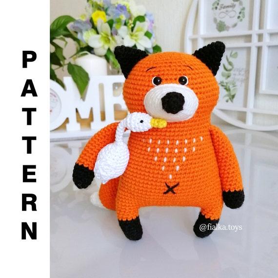 Crochet Fox Pattern Amigurumi Fox Crochet Amigurumi Pattern Fox Lucas PDF English