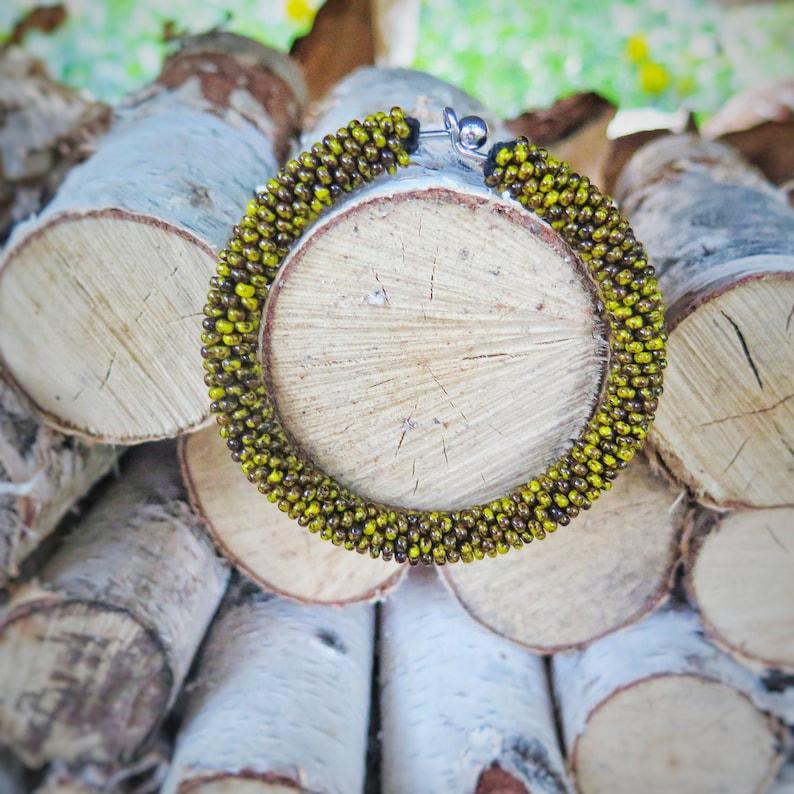 détaillant en ligne 0b4ef b3ced Beaded bracelet / bracelet femme / Strong bracelet / Bold hoops / Strong  bracelet women