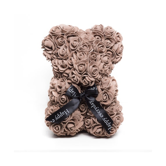 "With Clear box /& Red rose|oso peluche Happy Mother/'s Day 5/"" Brown Teddy Bear"