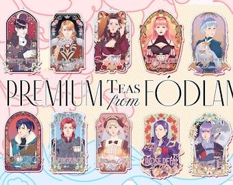 "Fire Emblem Three Houses: 3"" Tea Label Charms"