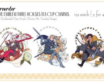 "Fire Emblem Three Houses: 3.5"" Tea Cup Charms"