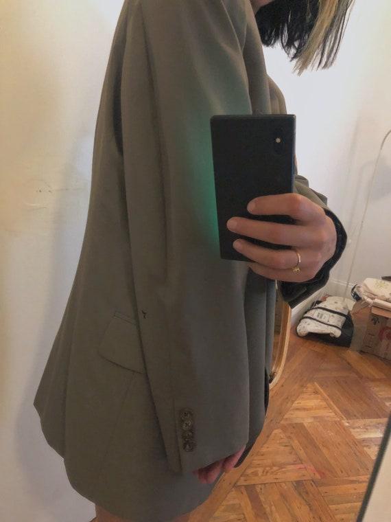 Vintage Oversized Olive Green Boyfriend Blazer | … - image 7