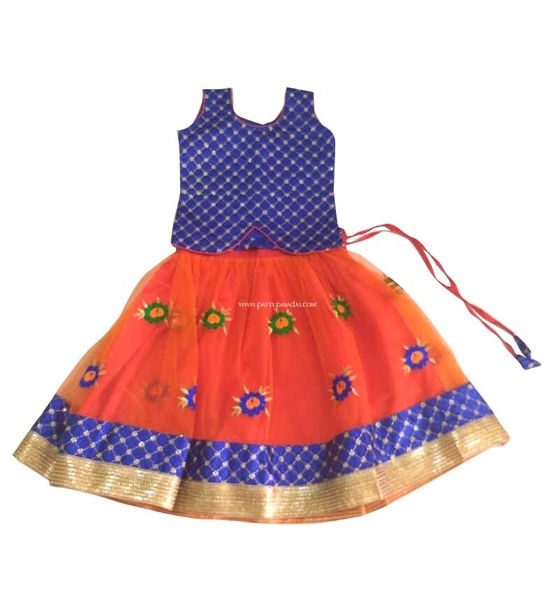 0be8031db455 Pattu Pavadai Baby Girls / Kids Grand Designer Fancy Langa   Etsy