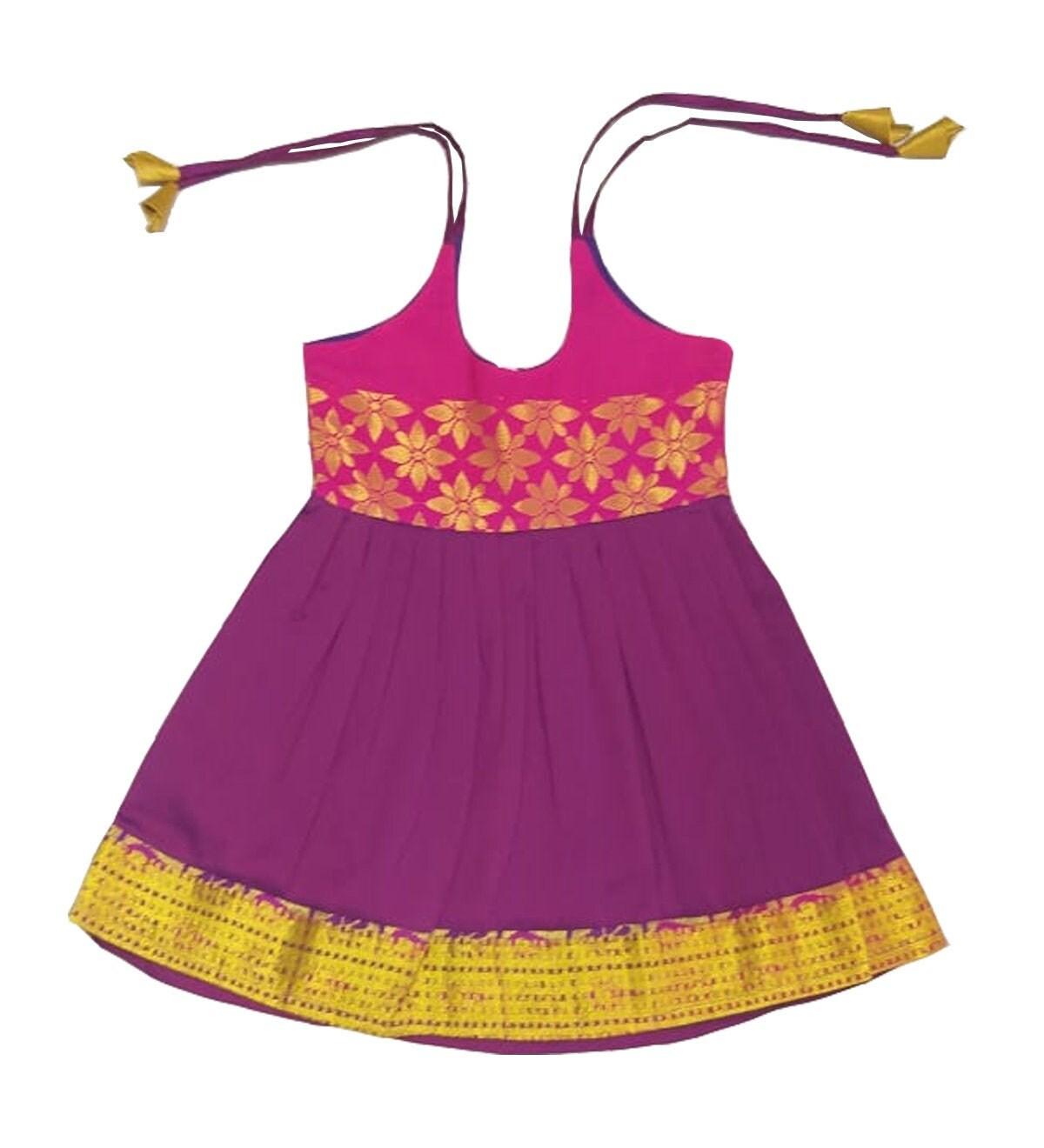4d9150d284 Pattu Pavadai New Born Baby Girls / Kids Pure Silk Frock | Etsy