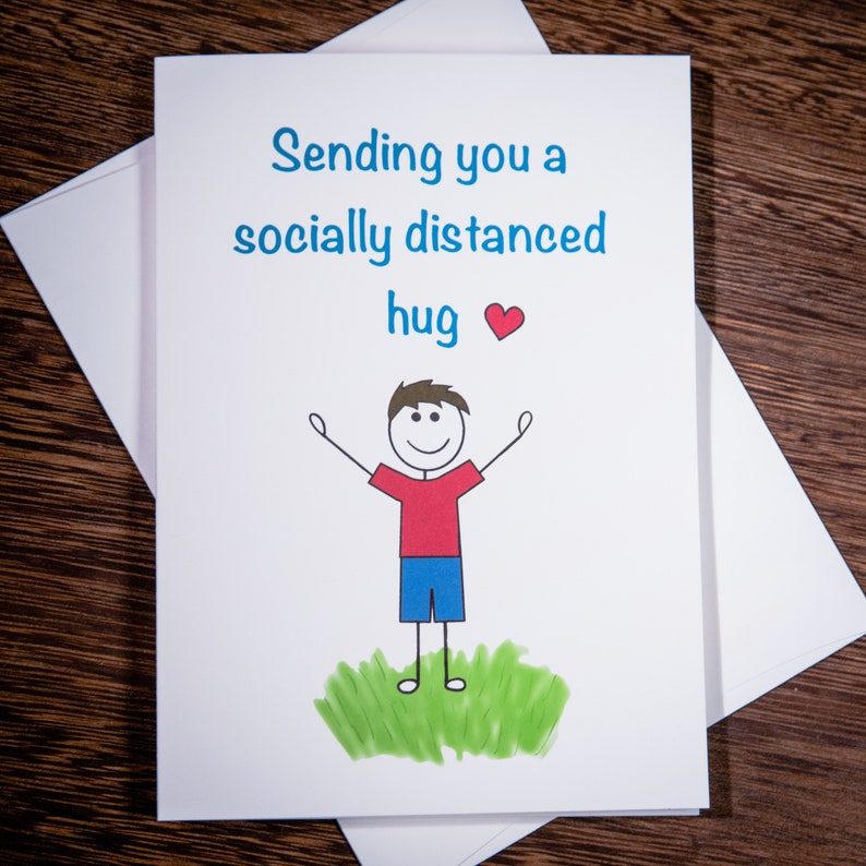 Quarantine Card Pack for friends and family quarantine, social distancing, sending love
