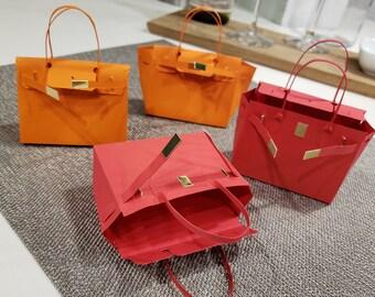 99dc49c4ec0d Party Favor Bags 6ct - Designer Inspired Hermes Birkin Goodie Bags for Baby  Showers