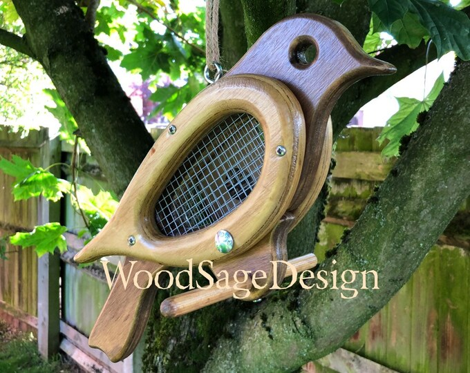 Featured listing image: Wooden Bird Feeder, Outdoors, Bird Feeders, Garden, Christmas Gift, Handmade