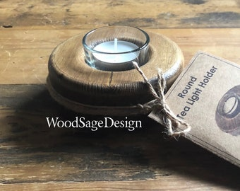Wooden Candle Holder, Tealight Holder, Rustic, Candles, Gift