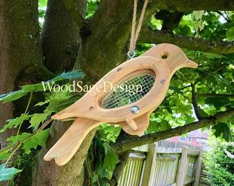 Bird Feeder, Bird Feeders, Wooden, Seed, Garden, Gift, Outdoors