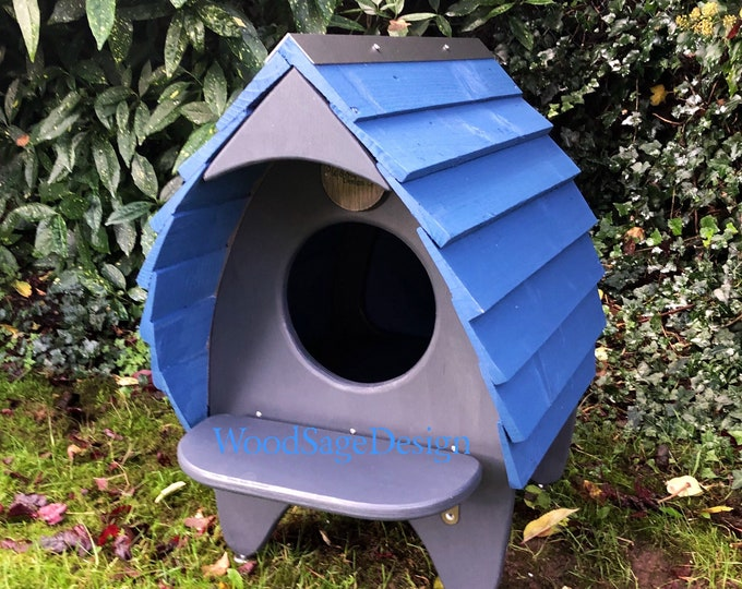 Featured listing image: Cat Bed, Cat House, Outdoor Cat, Cat Chalet, Pet Beds, Modern Cat, Shelter, Outdoors, Gift