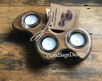 Wooden Candle Holder, Candlestick Holder, Tealight Holder, Candles, Gift