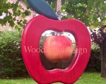 Red Apple Bird Feeder