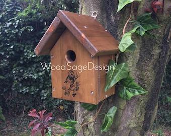 Bird House, Wooden Birdhouse, Garden Gift, Birdhouses and Feeders, Outdoors