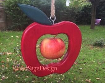 Red Apple Bird Feeder