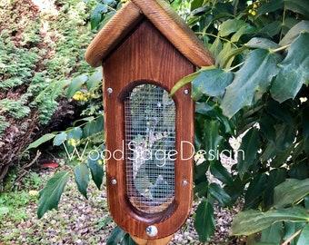 Bird Feeder, Wooden Bird Seed Feeder, Outdoors, Garden Gift, Bird Feeders