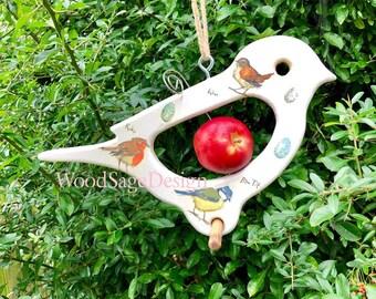 Apple Feeder, Bird Feeder, Outdoors, Garden, Decoupage, Robin, Birdfeeder, Gift