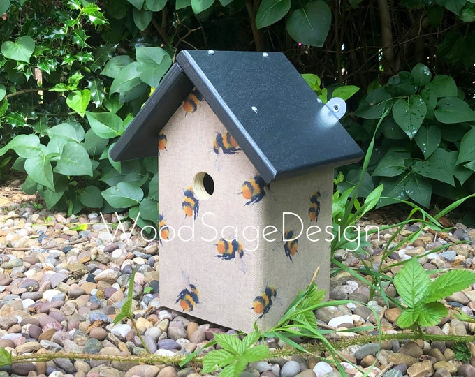 Featured listing image: Bumblebee themed Birdhouse