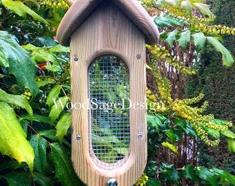 Wooden Bird Seed Feeder, Garden Gift, Outdoors, Bird Feeders, Christmas Gift, Feeders and Birdhouses