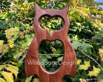 Apple Feeder, Bird feeder, Wood, Outdoors, Garden Gift, Owl