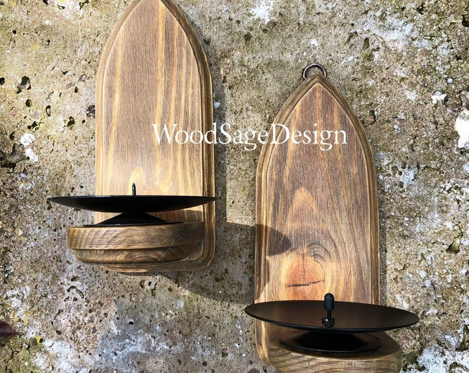 Featured listing image: Gothic Wooden Candle Holder