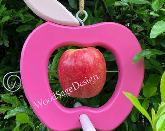 Pink Apple Bird Feeder