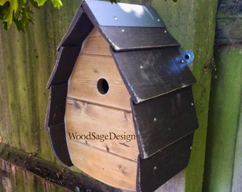 Brown Wooden Bird House for Outdoors