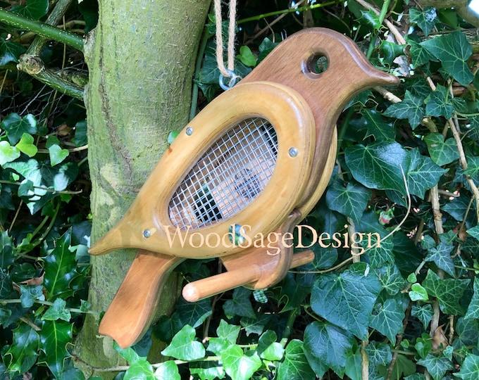 Featured listing image: Wooden Bird Feeder, Outdoors, Bird Feeders, Garden Gift