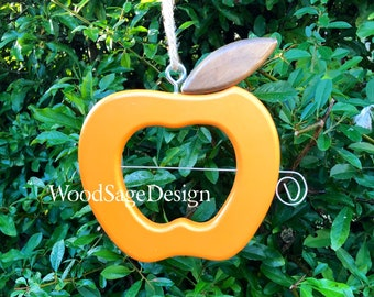 Apple Feeder, Birdfeeder, Orange, Bird Feeders, Outdoors, Garden Gift, Apple Feeders