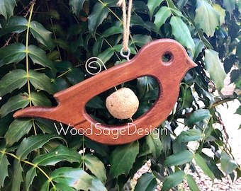 Bird Feeder, Apple Feeder, Seed Ball, Wooden, Garden Gift, Robin, Bird Feeders