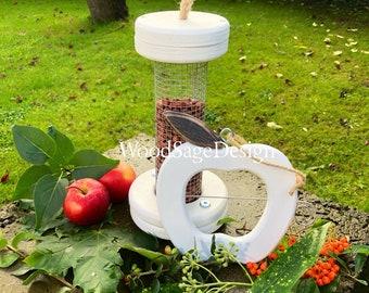 Apple Feeder, Bird Feeders, Wood, Garden, Outdoors, Christmas Gift