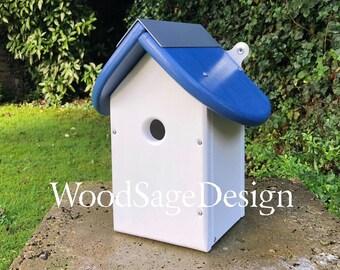 Wooden Bird House, Outdoors, Bird Houses, Garden Gift, Handmade