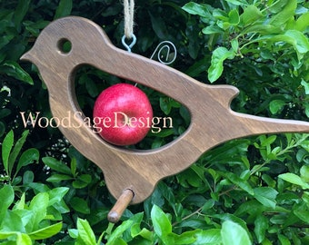 Wooden Bird Feeder