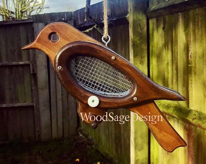 Featured listing image: Wooden Bird Feeder for Outdoors, Bird Feeder, Bird House