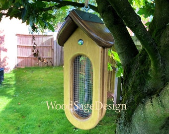 Bird Feeder, Wooden, Seed, Outdoors, Garden Gift, Bird Feeders
