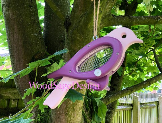 Purple Bird Feeder, Seed, Feeder, Garden Gift, Feeders and Birdhouses,