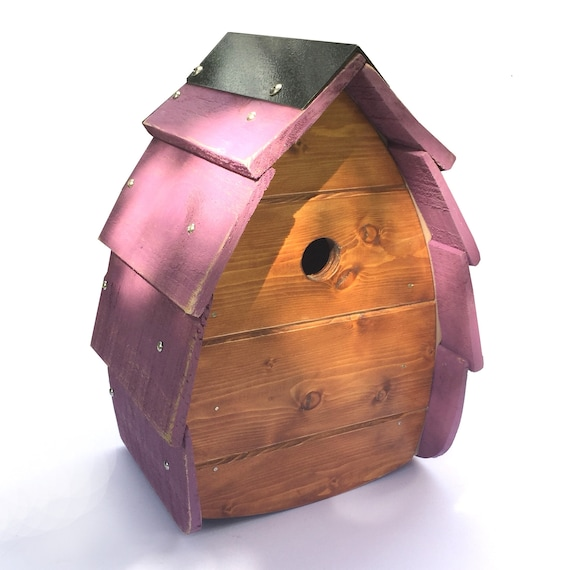 Bird House Birdhouse Birdbox Purple